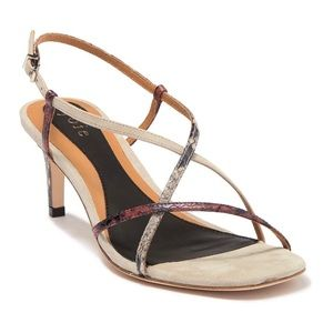 Joie Malou Sandals 41 Snakeskin Embossed Leather